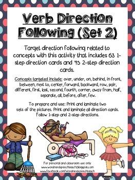 Verb Direction Following (Set 2)