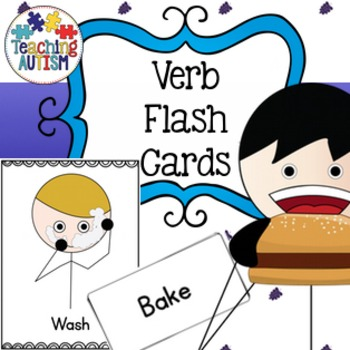 Verb Recognition Vocabulary Cards