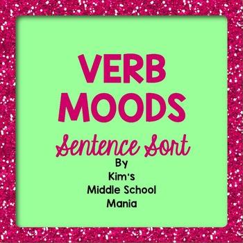 Verb Moods Sentence Sort