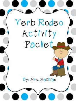 Verb Rodeo Activity Packet