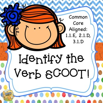 Verb SCOOT!  So fun to practice identifying verbs!  Gr. 1-