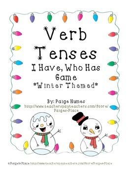 Verb Tense I Have, Who Has (Winter Themed)