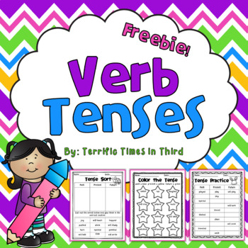Verb Tenses Freebie: Printables for Past, Present, and Future
