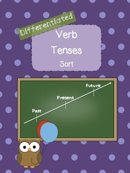 Verb Tenses Sort- Differentiated