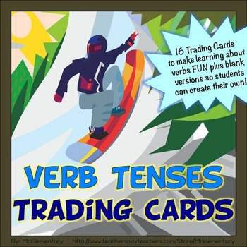 Verb Tenses Trading Cards
