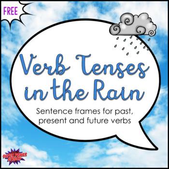 Verb Tenses in the Rain (FREE)