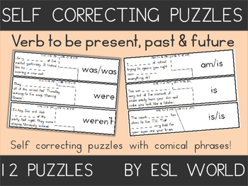 Verb To Be Self Correcting Puzzles