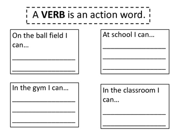 Verb, adverb, and adjective worksheets and reading interac
