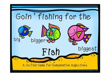 """Verb and Adjective """"Fishy"""" Games"""