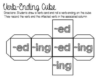 Verb-ending Cube