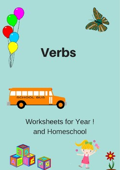Verb worksheets for Year 1 and Homeschool