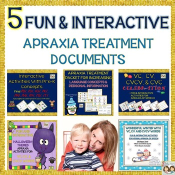 Verbal Apraxia Bundle: Fun & Interactive Activities For Tr