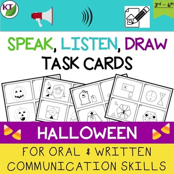 Oral and Written Communication Skills Task Cards: Halloween