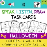 Verbal and Written Communication Skills Task Cards: Halloween