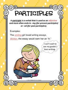 Verbals Participles and Participial Phrases Classroom Post