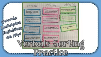 Verbals Sorting Practice - Gerunds, Participles, and Infinitives
