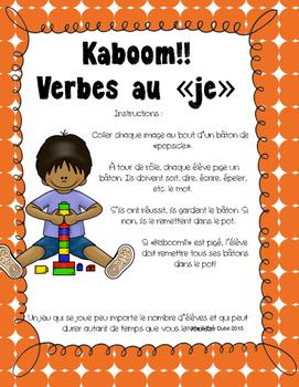 "Verbes au ""je"" - Kaboom!!"