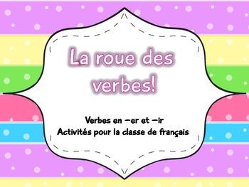 Verbes en -er et -ir - La roue des verbes