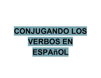 Verbos en Español (Verb Conjugation Spanish)