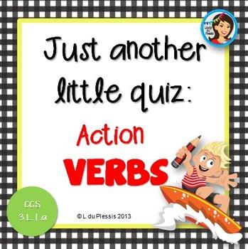 Verbs 10 Mark Quiz {PowerPoint}