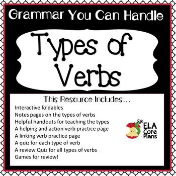 Verbs~ Action Verbs, Helping Verbs, Linking Verbs