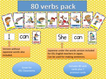 Verbs Flash Cards