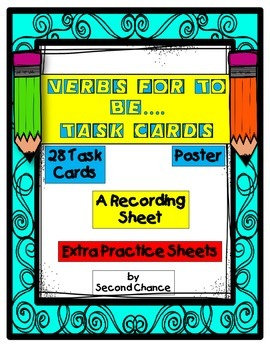 Verbs For To Be Task Cards
