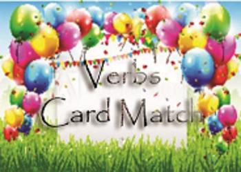 Verbs - Literacy Center Activity - Card Match