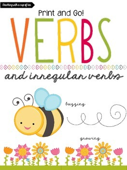 Verbs: Print and Go! Sheets w/Interactive Journal Sheets