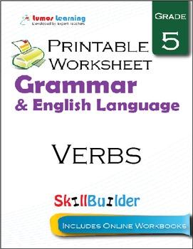 Verbs Printable Worksheet, Grade 5