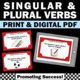Singular and Plural Verbs Activities & Games for 1st Grade