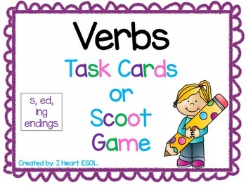 Verbs Task Cards or Scoot Game