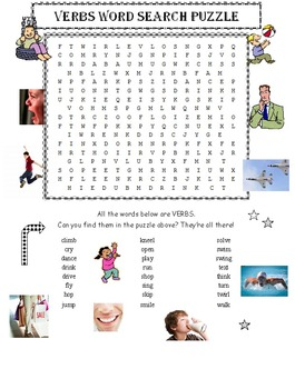 Verbs Word Search Puzzle