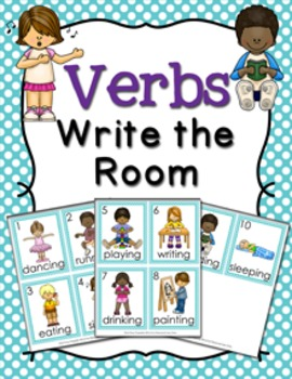 Verbs Write the Room Activity