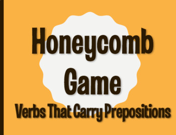Spanish Verbs that Carry Prepositions Honeycomb Partner Game