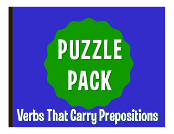 Spanish Verbs that Carry Prepositions Puzzle Pack