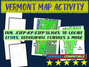 Vermont Map Activity- fun, engaging, follow-along 20-slide PPT