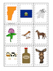 Vermont themed Memory Matching and Word Matching preschool