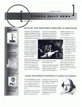 Verona Daily News—Example of a Newspaper Project for a Dif