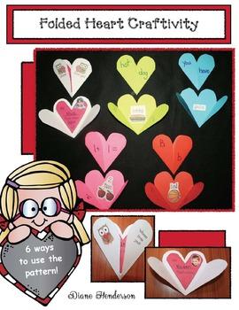 Versatile Folded Heart Craftivity