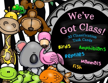 Vertebrate Animal Classification Task Cards