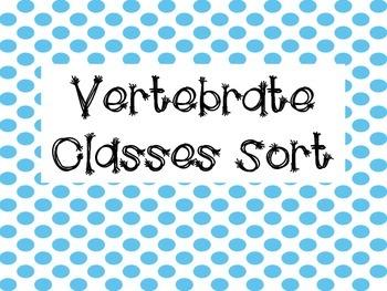 Activity Pack: Vertebrate Classes Identification Sort