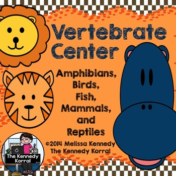 Vertebrates Center {Anchor Charts and Sorting Activity}