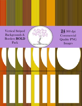 Vertical Striped Backgrounds and Borders BOLD Pack
