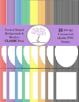 Vertical Striped Backgrounds and Borders CLASSIC Pack