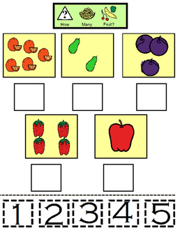 The Very Hungry Caterpillar Number Worksheet