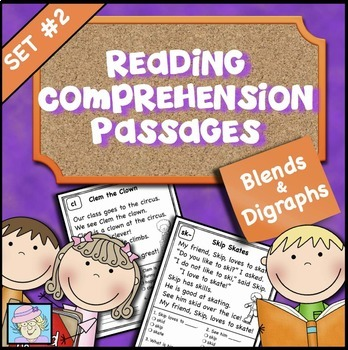 Reading Comprehension Set 2: Blends and Digraphs