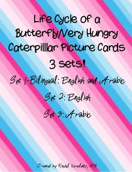 Very Hungry Caterpillar Bilingual Picture Cards- English a