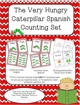 The Very Hungry Caterpillar Spanish Counting Cards & Mini-