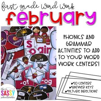 First Grade Word Work February